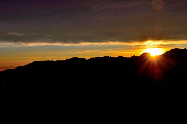 tramonto sulle Tre Croci