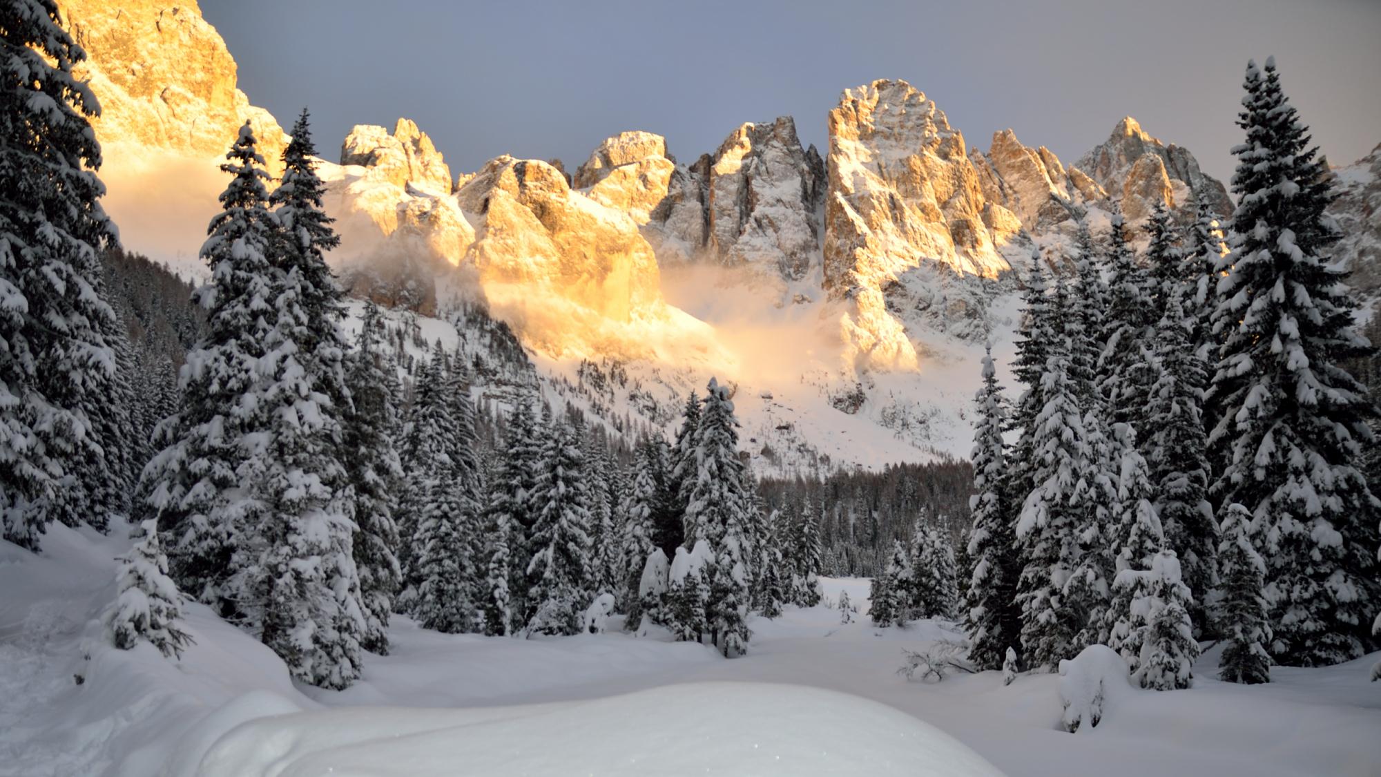 Val Venegia con la neve