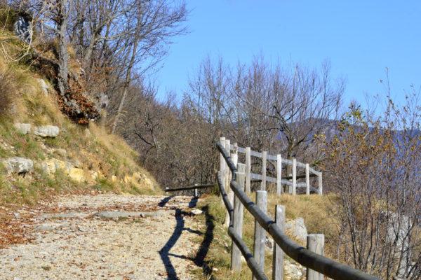 Camminamento sul monte Cimone