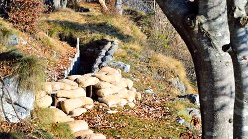trincea restaurata sul Monte Cimone