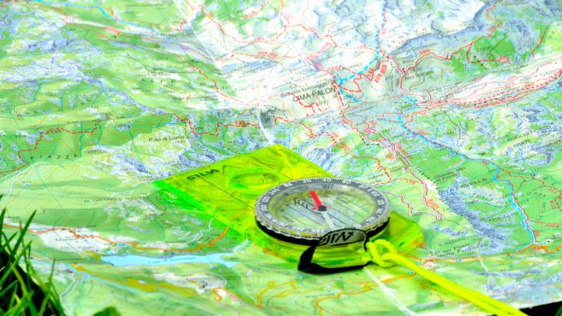 Cartina Topografica e bussola