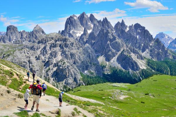 escursione in montagna - giro delle Tre Cime di Lavaredo