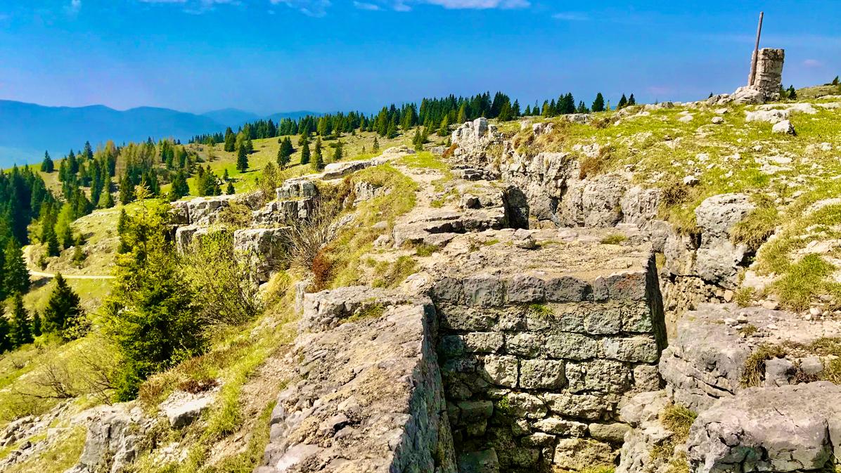 Monte Zebio trincee
