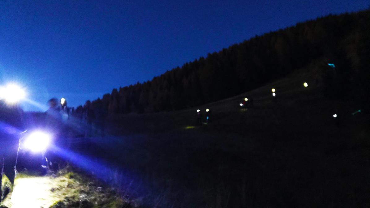 escursione in notturna