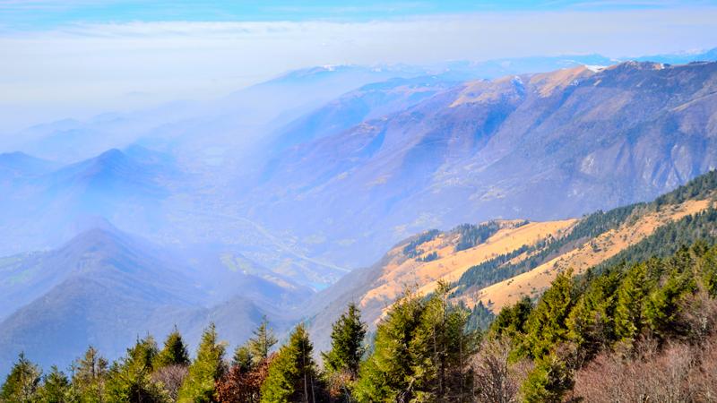 panorami dalla cima del monte Pizzoc