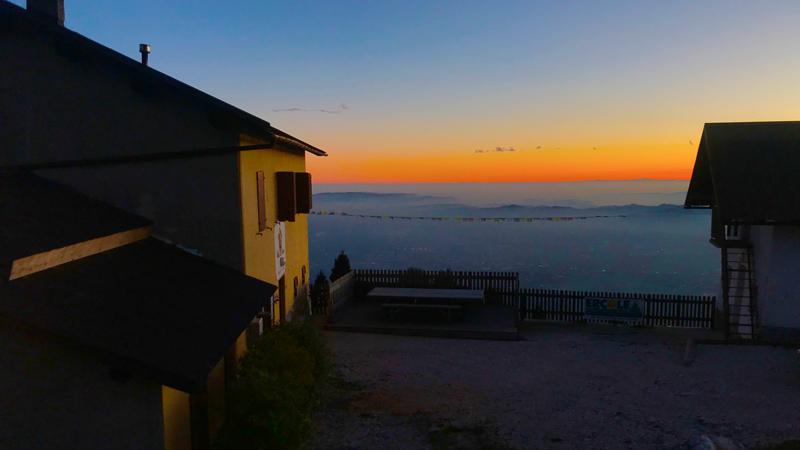 Malga Foraoro al tramonto
