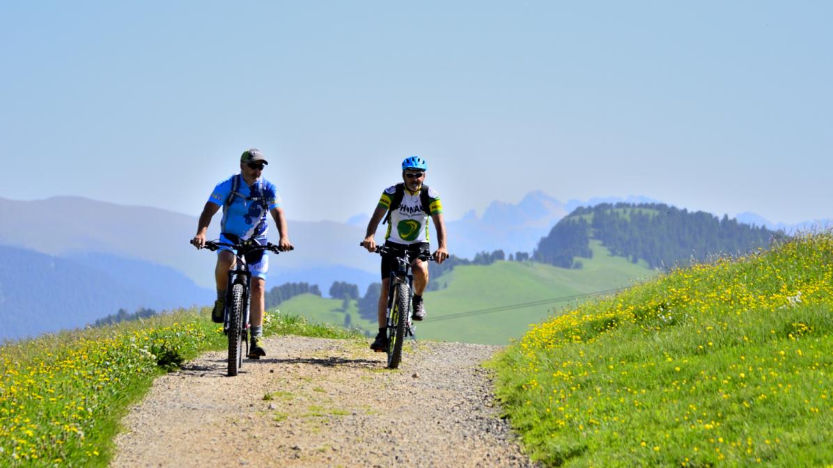 pedalando in e-bike