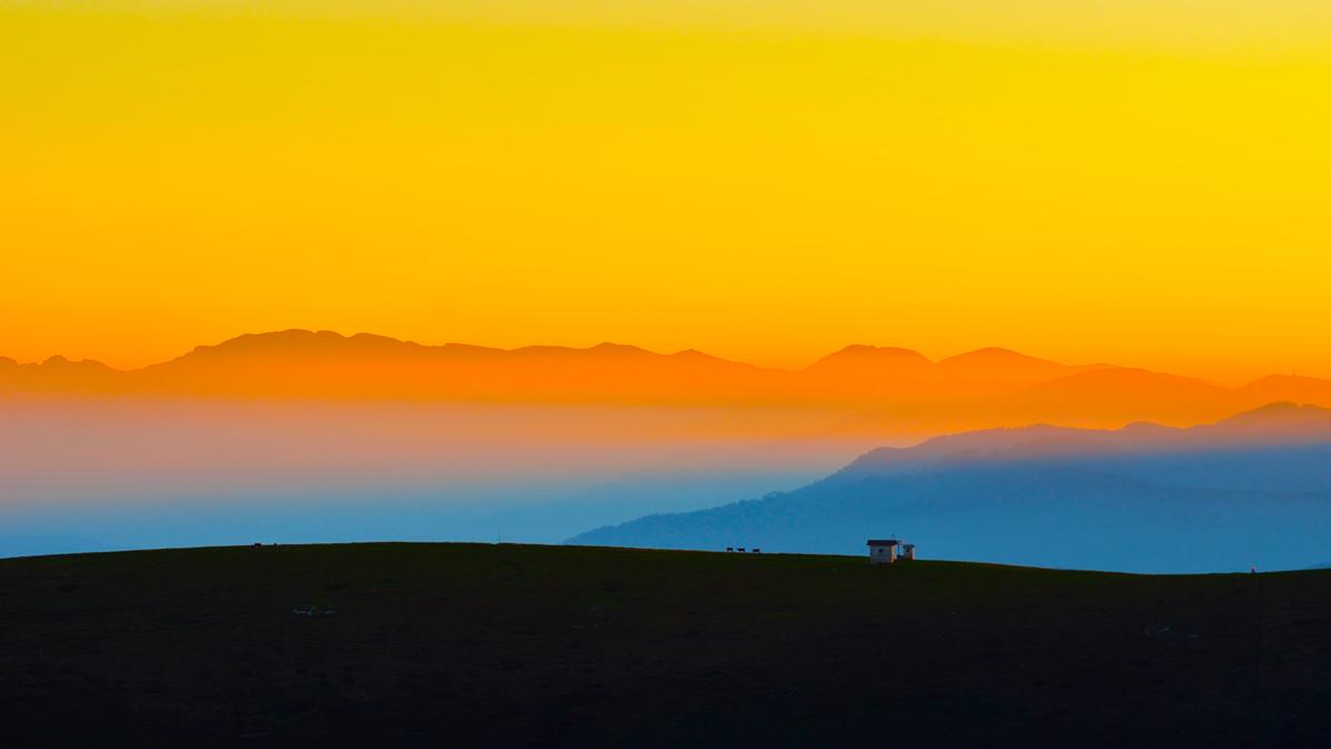 tramonto dalla cima del monte fior