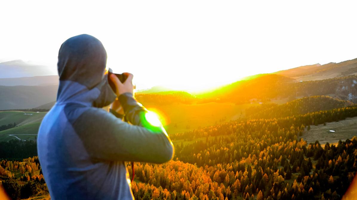 foto al tramonto