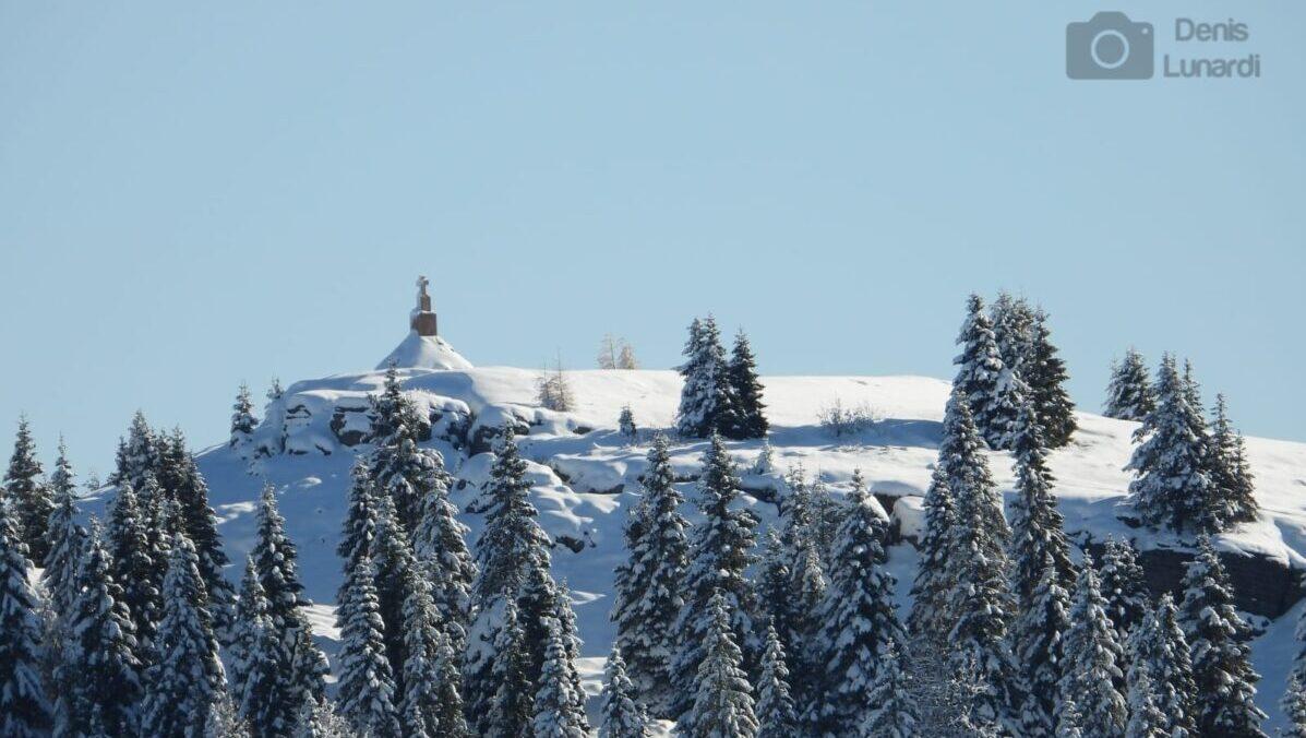 Castelgomberto con la neve