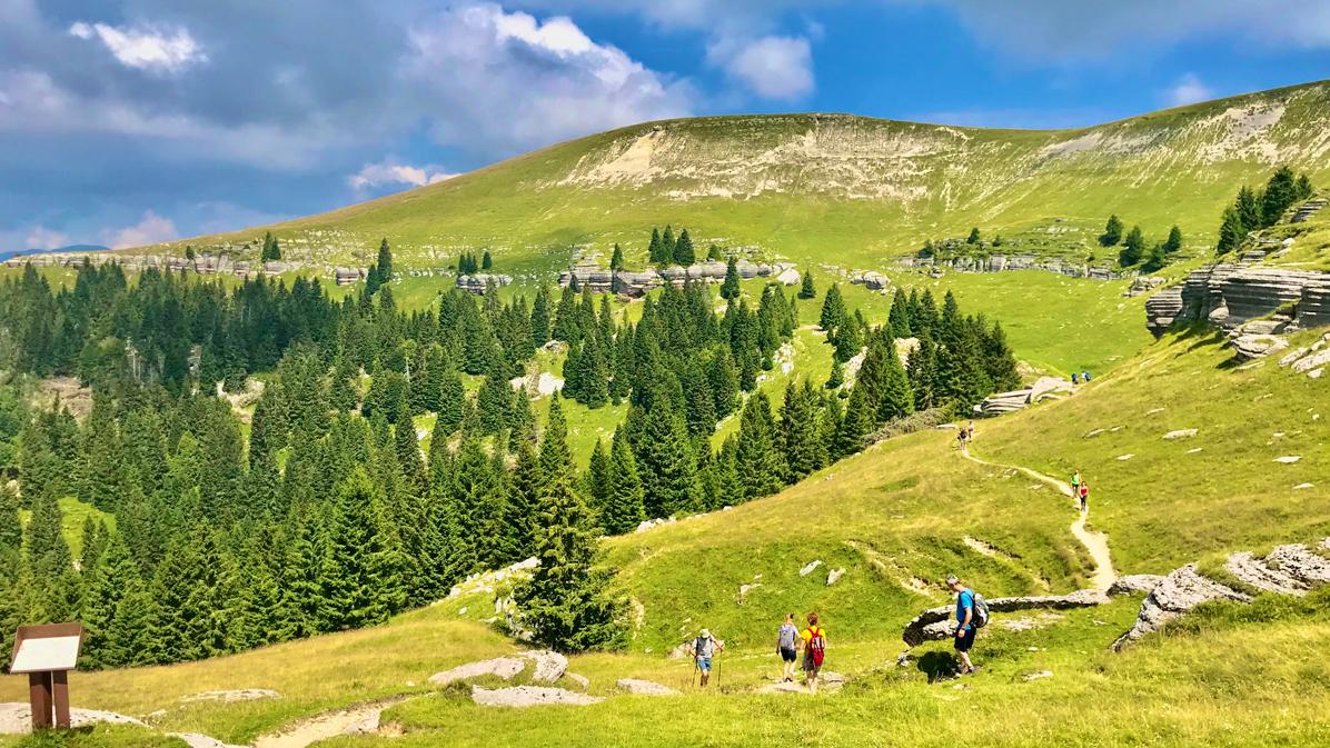 camminando sul Monte Fior