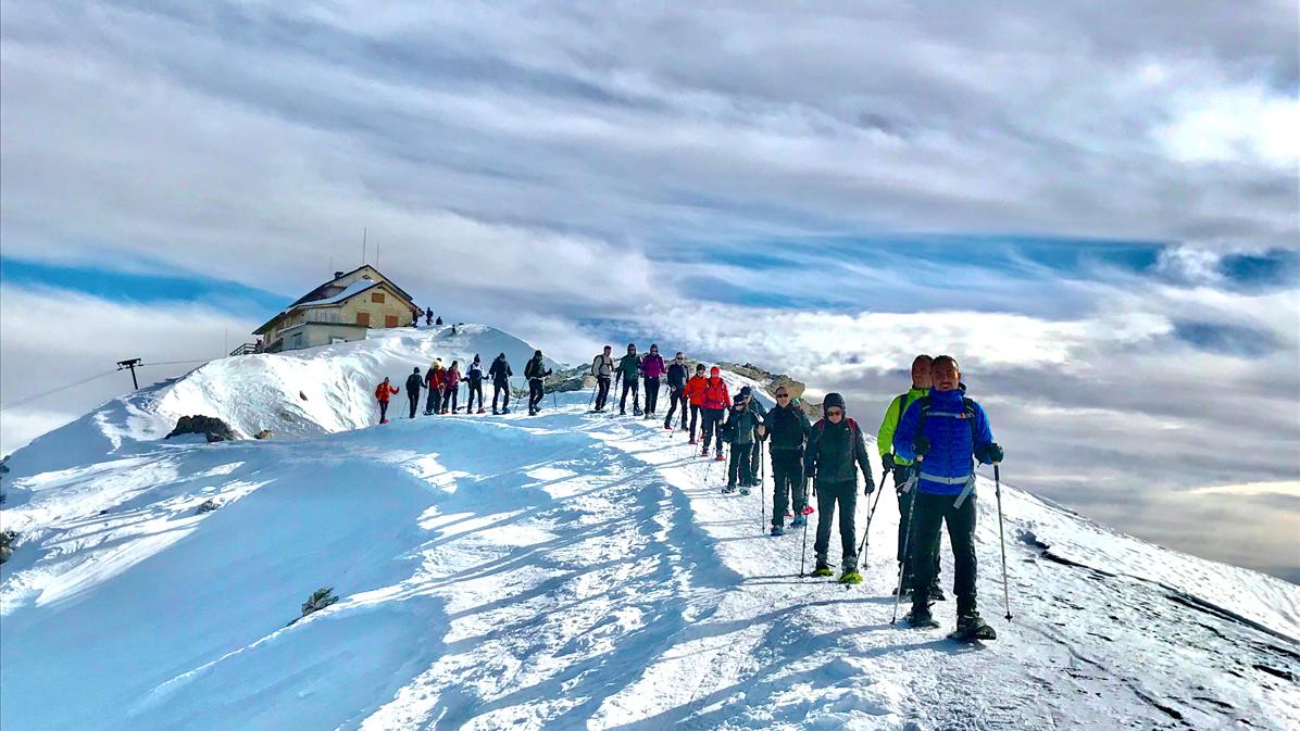 scendendo dal rifugio Nuvolau