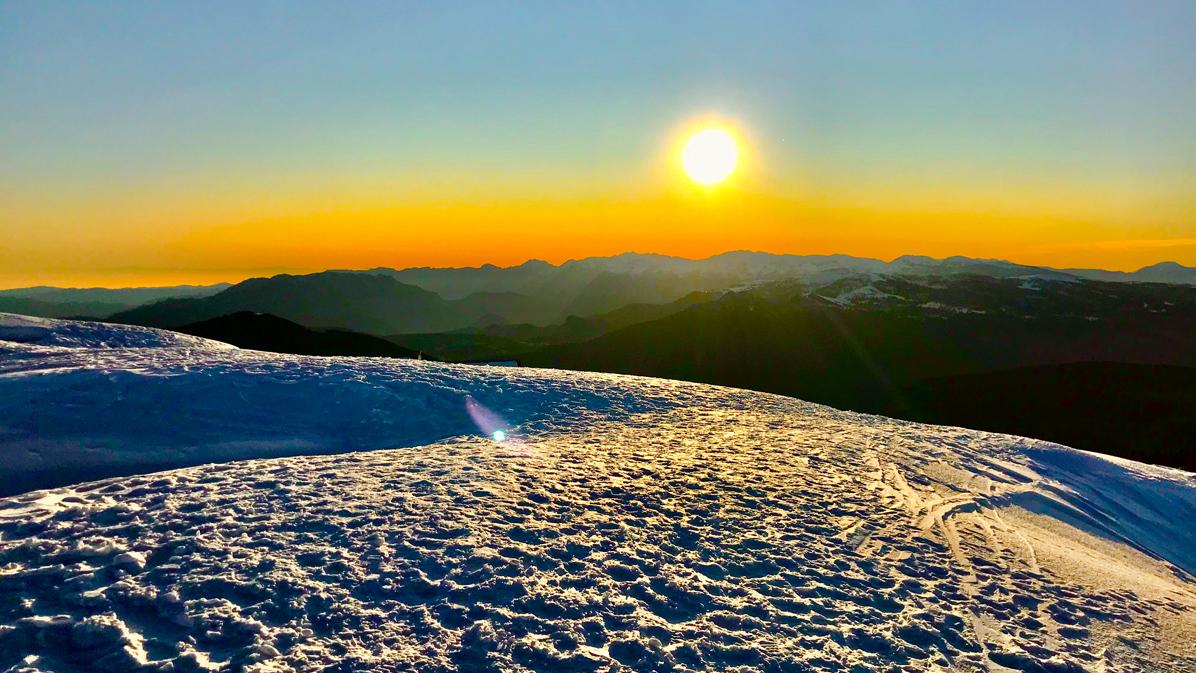 tramonto da Monte Verena