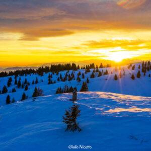 tramonto sul Monte Zebio