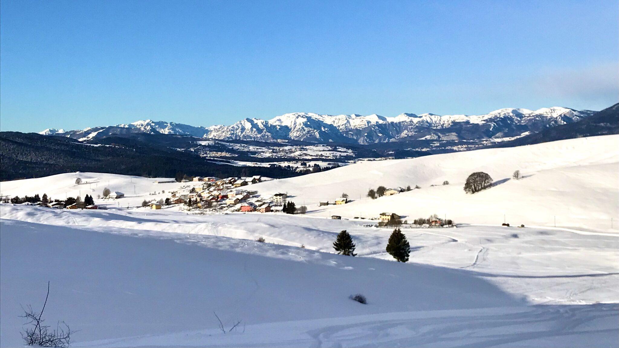panorami dalla ciaspolata in Valbella