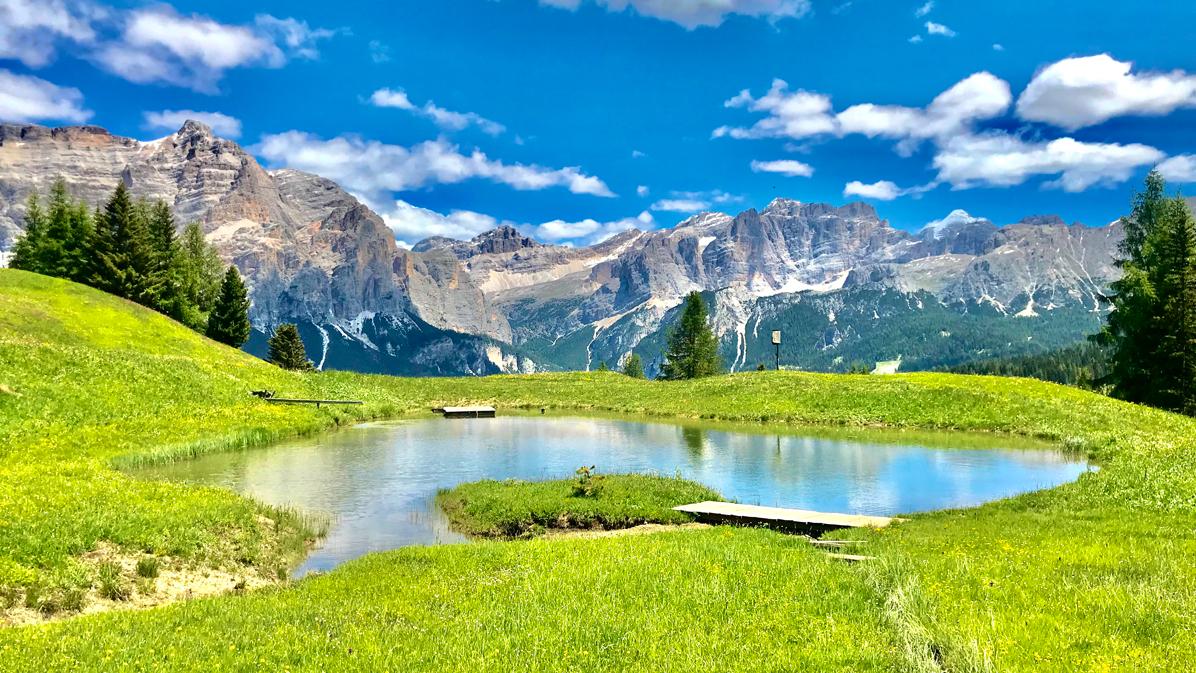 laghetto alpino salendo a Pralongià