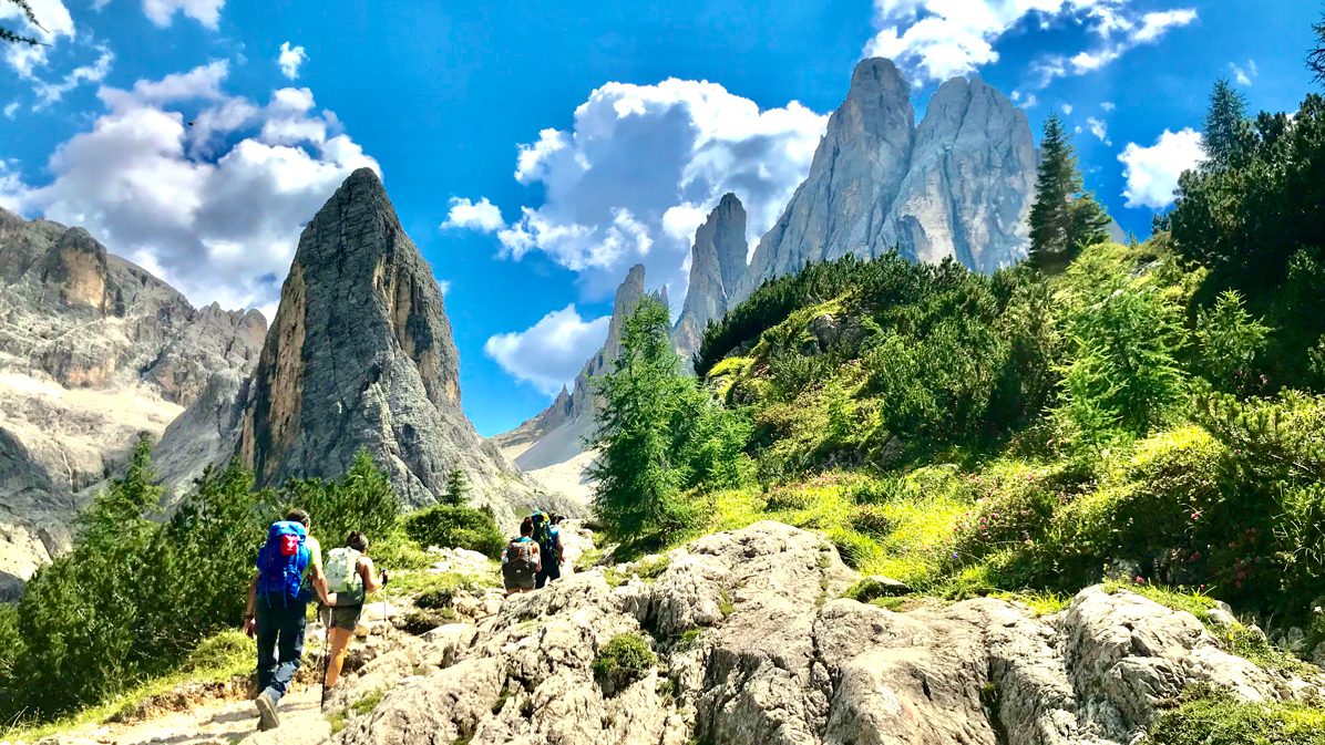 salendo in Val Fiscalina in Alto Adige