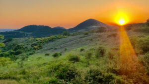tramonto ad Arqua Petrarca