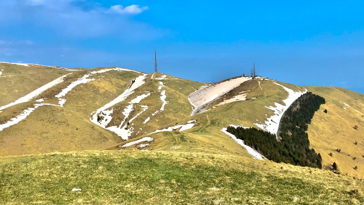 camminando verso il Monte Cesen