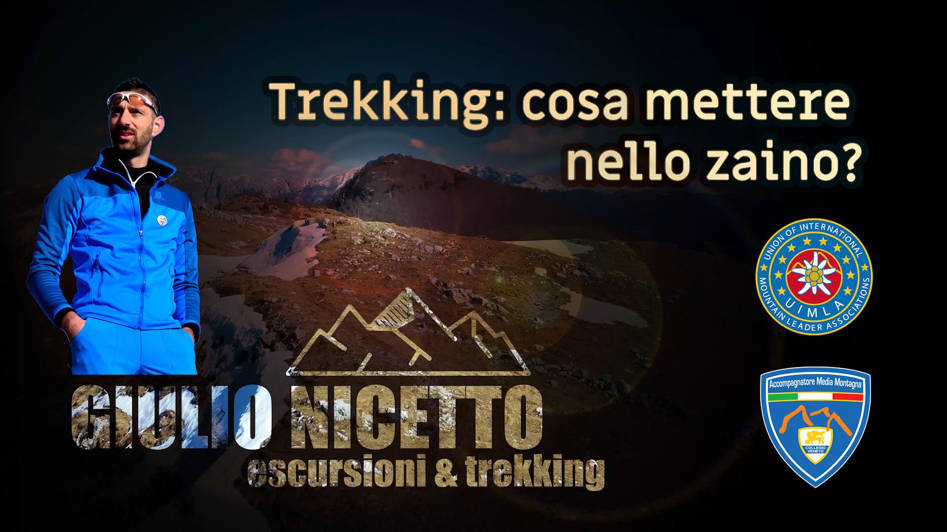 Trekking: cosa mettere nello zaino?